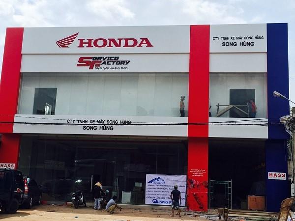 Thi công Công trình nhà thép Honda