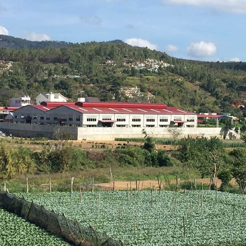 Nhà xưởng sản xuất khung thép