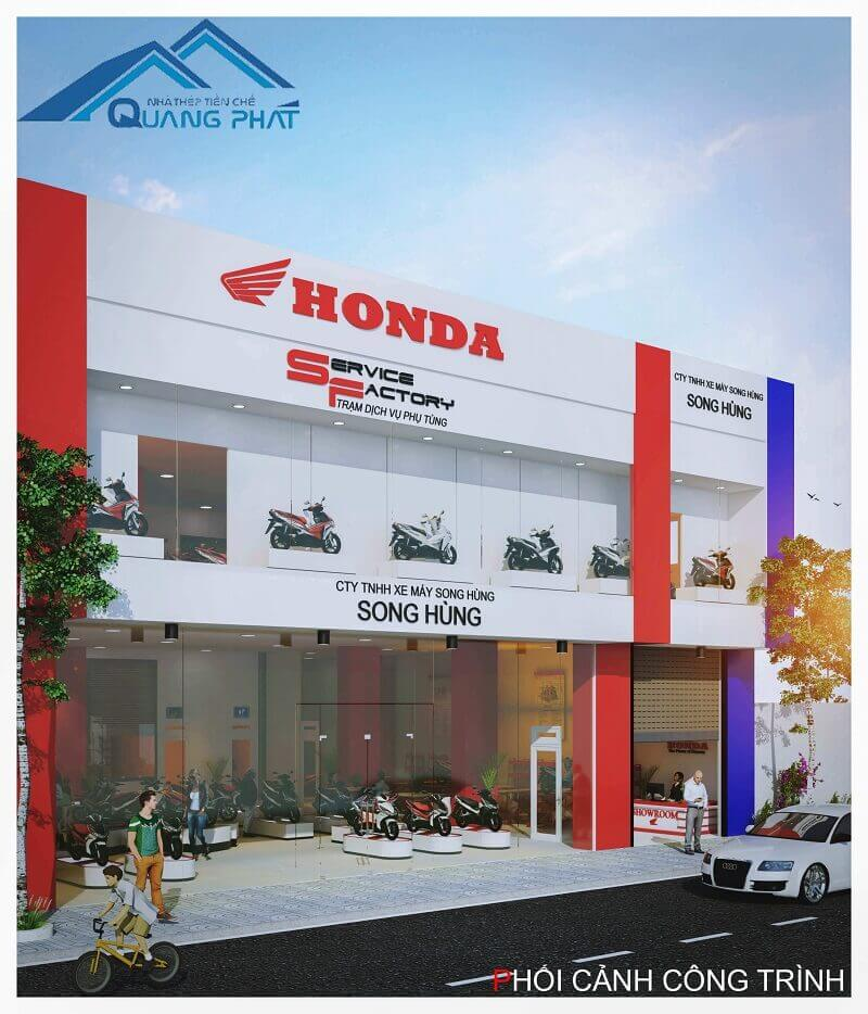 nha thep tien che showroom Honda Song Hung (13)