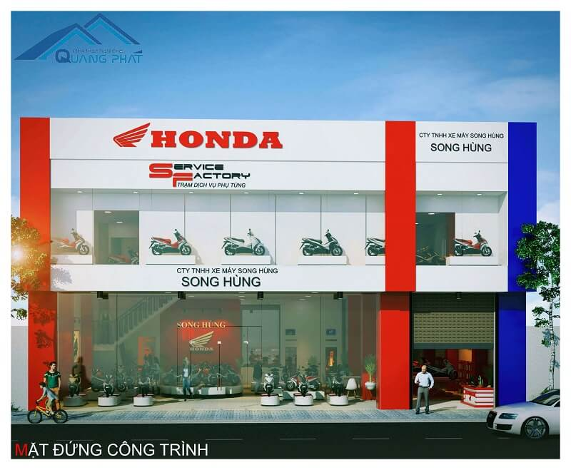 nha thep tien che showroom Honda Song Hung (14)