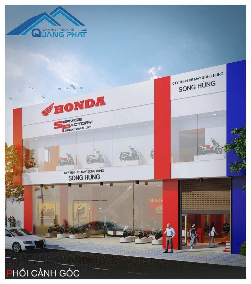 nha thep tien che showroom Honda Song Hung (15)