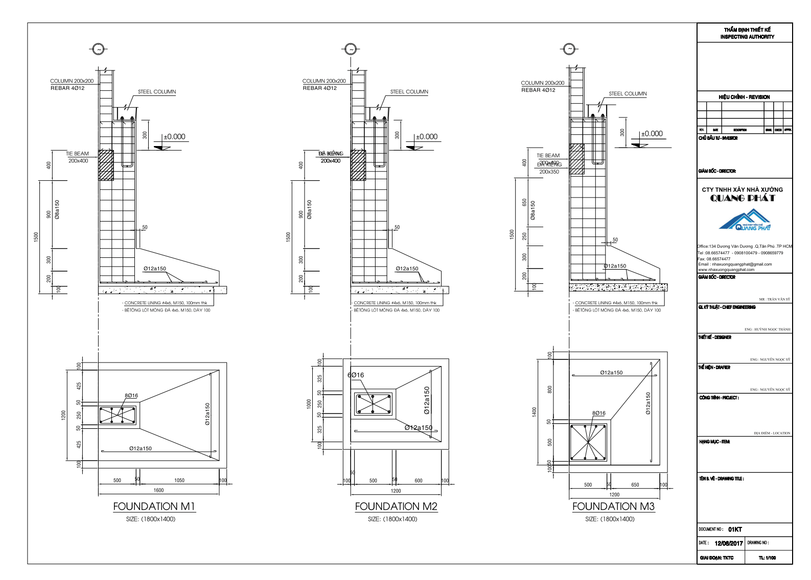 Các loại bản vẽ thiết kế nhà thép tiền chế